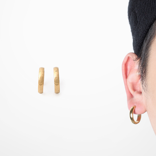 1 Pair Hip Hop Hoop Earrings Rap Rock Men Gold Stud G Dragon Minimalism