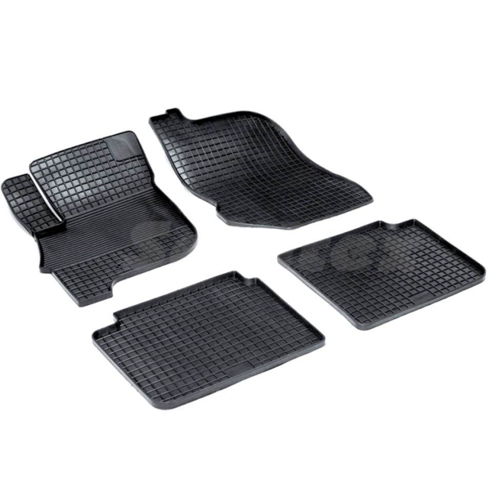 Rubber grid floor mats for Mitsubishi Galant IX 2006 2007 2008 2009 2010 2011 2012 Seintex 00424 rubber grid floor mats for honda accord viii 2008 2009 2010 2011 2012 seintex 00758