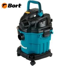 Пылесос универсальный Bort BSS-1518-Pro (Мощность 1500 Вт, насадка с пультом ДУ, двухступенчатая турбина,  колеса и возможность крепления на стену, подходит для всасывания жидкостей, функция выдува)