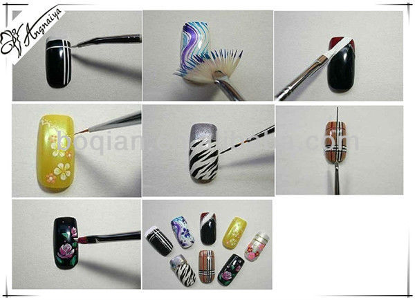 Nail Art Designs With Thin Brushes To Bend Light