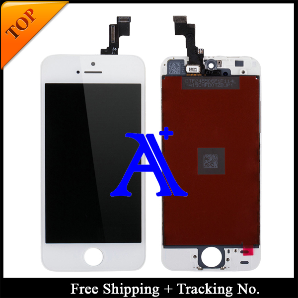 Free Shipping + Tracking No. 100% tested For Brand new 4' for iPhone 5s LCD screen display digitizer Assembly - White/Black