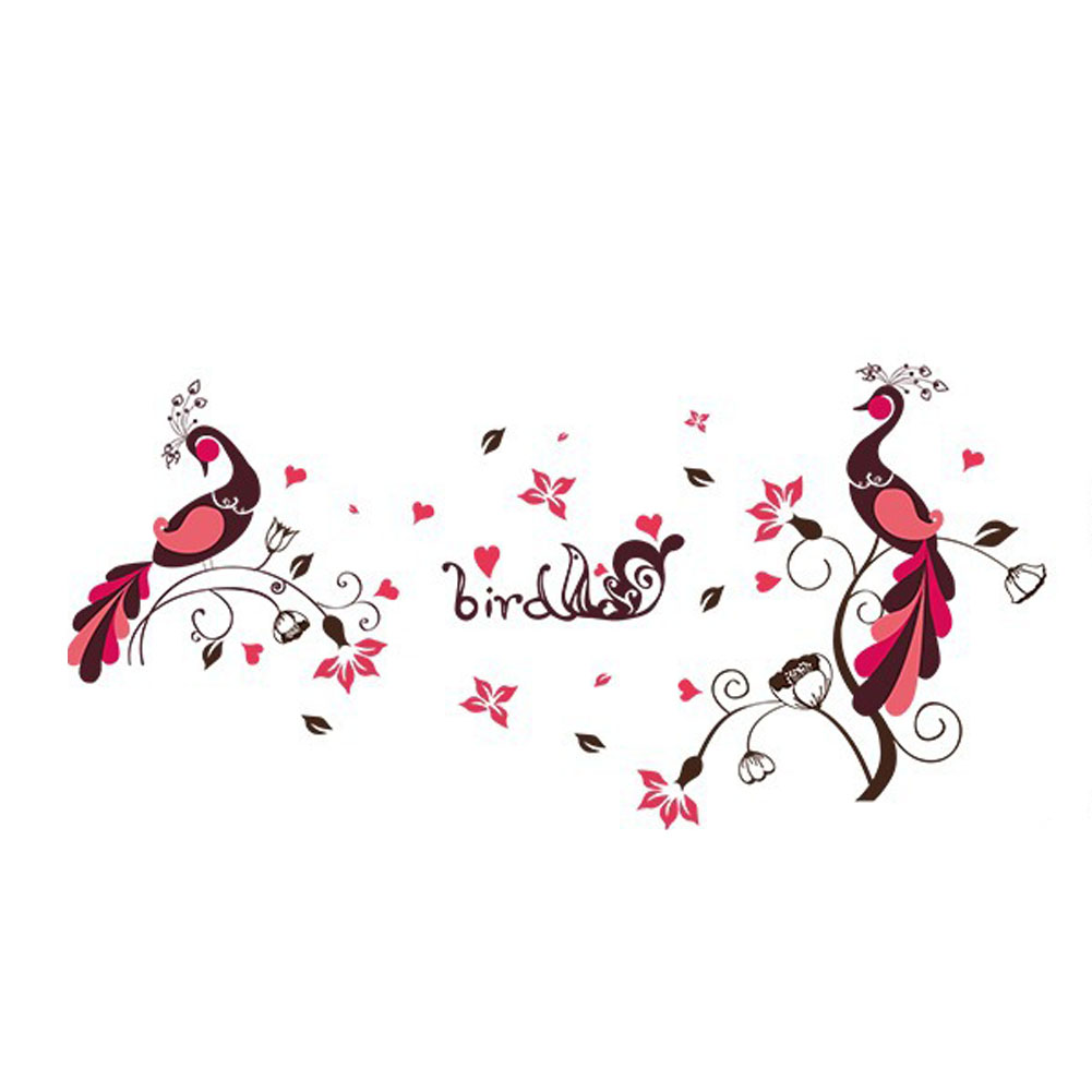 High Quality Bird Peacock Pvc Removable Wall Stickers Room Children S Room Decoration Stickers Kitchen Home Decor