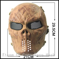Halloween Party Cosplay CS Game Airsoft Mask Scary Full Face Zombie Mask TPR Paintball Undead Mask War Game Face Mask in stock