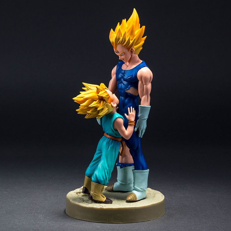 Dragon Ball Z Dramatic Showcase 4th season Super Saiyan Vegeta and Trunks Action Figure Collectible Model Toys 21cm Brinquedos dragon ball z black vegeta trunks pvc action figure collectible model toy super big size 44cm 40cm