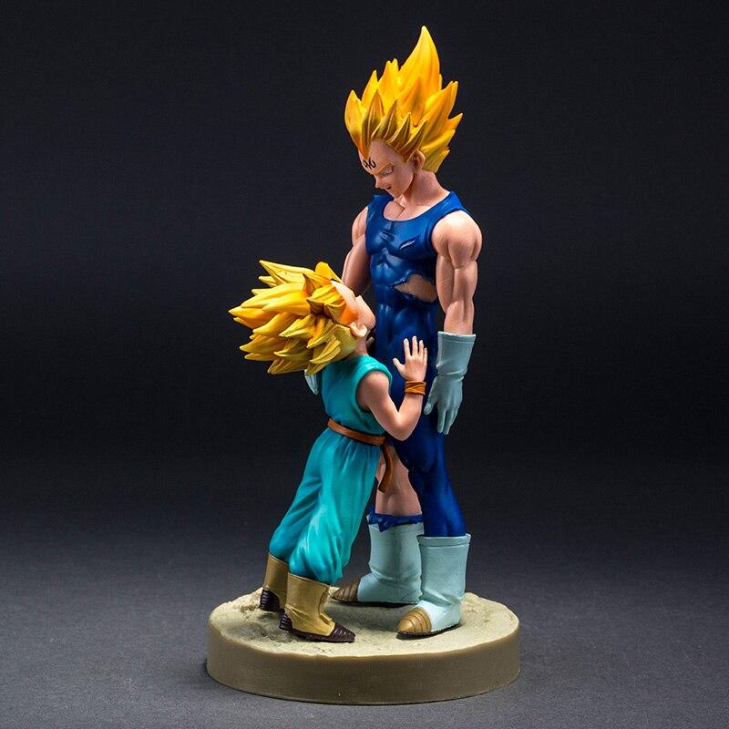 Dragon Ball Z Vitrine Spectaculaire 4ème saison Super Saiyan Vegeta et Trunks Action Figure Collection Modèle Jouets 21 cm Brinquedos