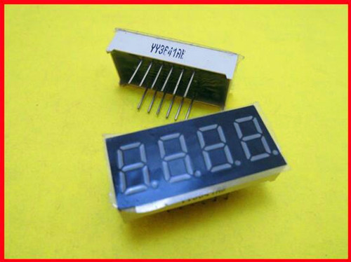 Free Shipping!!! 10pcs 0.36 Inches Four Common Cathode LED / 4 Super Bright LED / Electronic Component