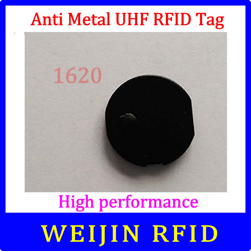 VIKITEK UHF RFID anti metal tag 920-925MHZ EPC small circular Ceramic tag D16mm*2mm C1G2 ISO18000-6C Alien Higgs3 chip 1000pcs long range rfid plastic seal tag alien h3 used for waste bin management and gas jar management