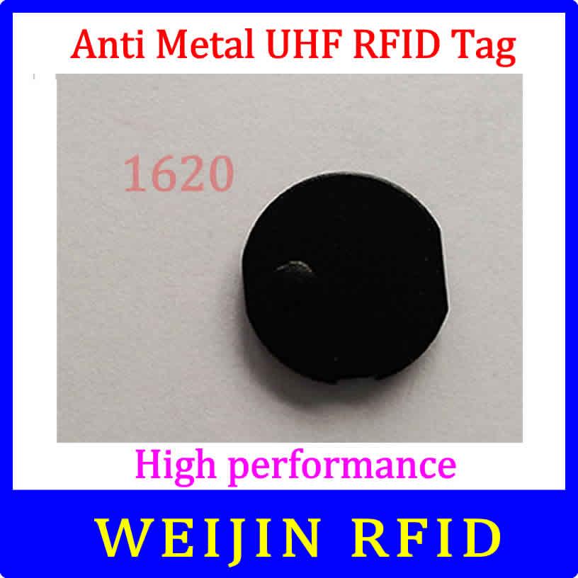 VIKITEK UHF RFID Anti Metal Tag 920-925MHZ EPC Small Circular Ceramic Tag D16mm*2mm C1G2 ISO18000-6C Alien Higgs3 Chip