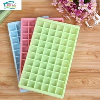 New High Quality 60 Cup Square Shape Ice Cube Tray Mould Freeze Mold Pudding Jelly Maker