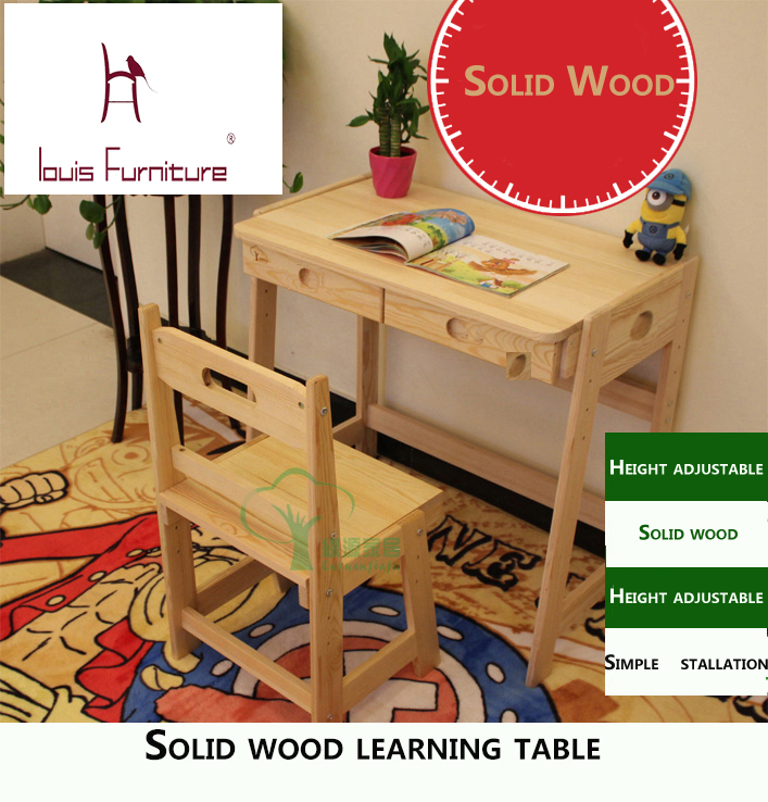 Children Learn Table And Chair Sets Of Secretary But Lift