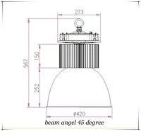 120 вт из светодиодов высоких бей семинар высокой мощности промышленного высокую яркость света