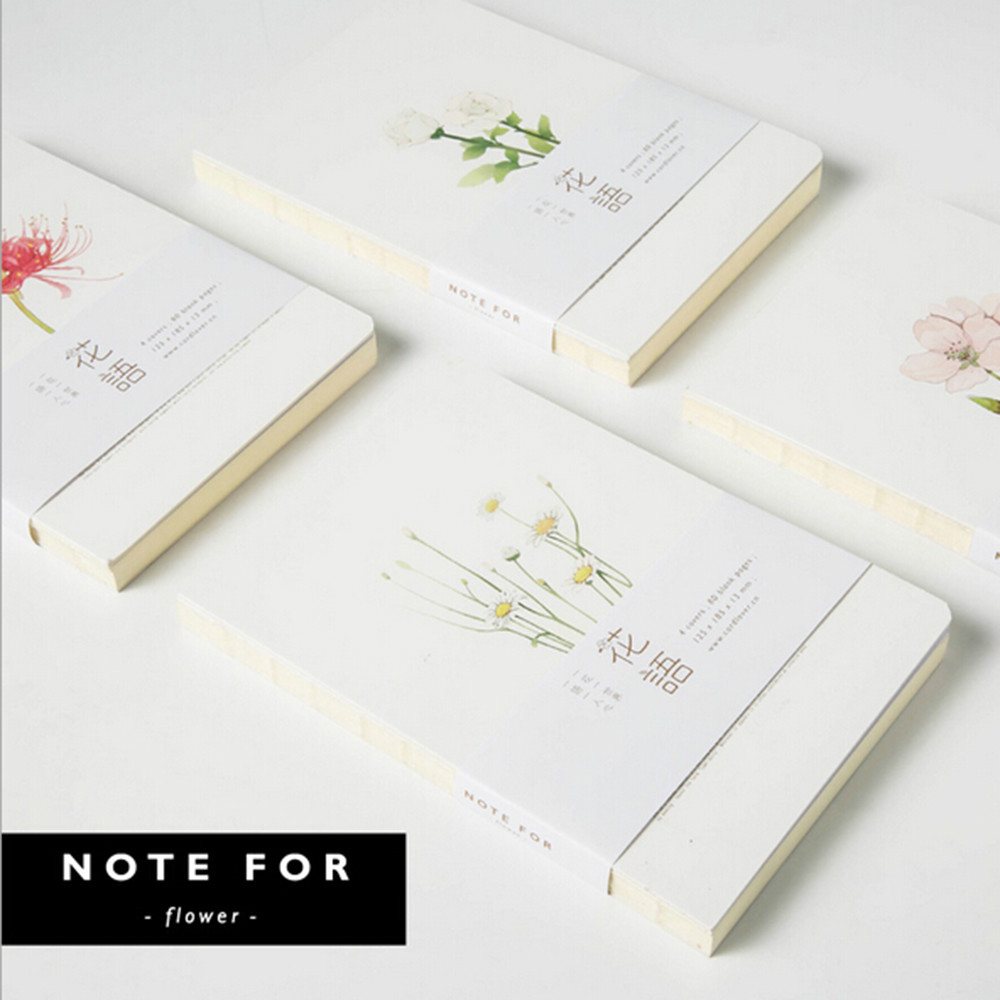 NOTE FOR / nuded [Language of flowers]  Japanese fresh blank of the hand books diario planner nude books piano books for the young musician
