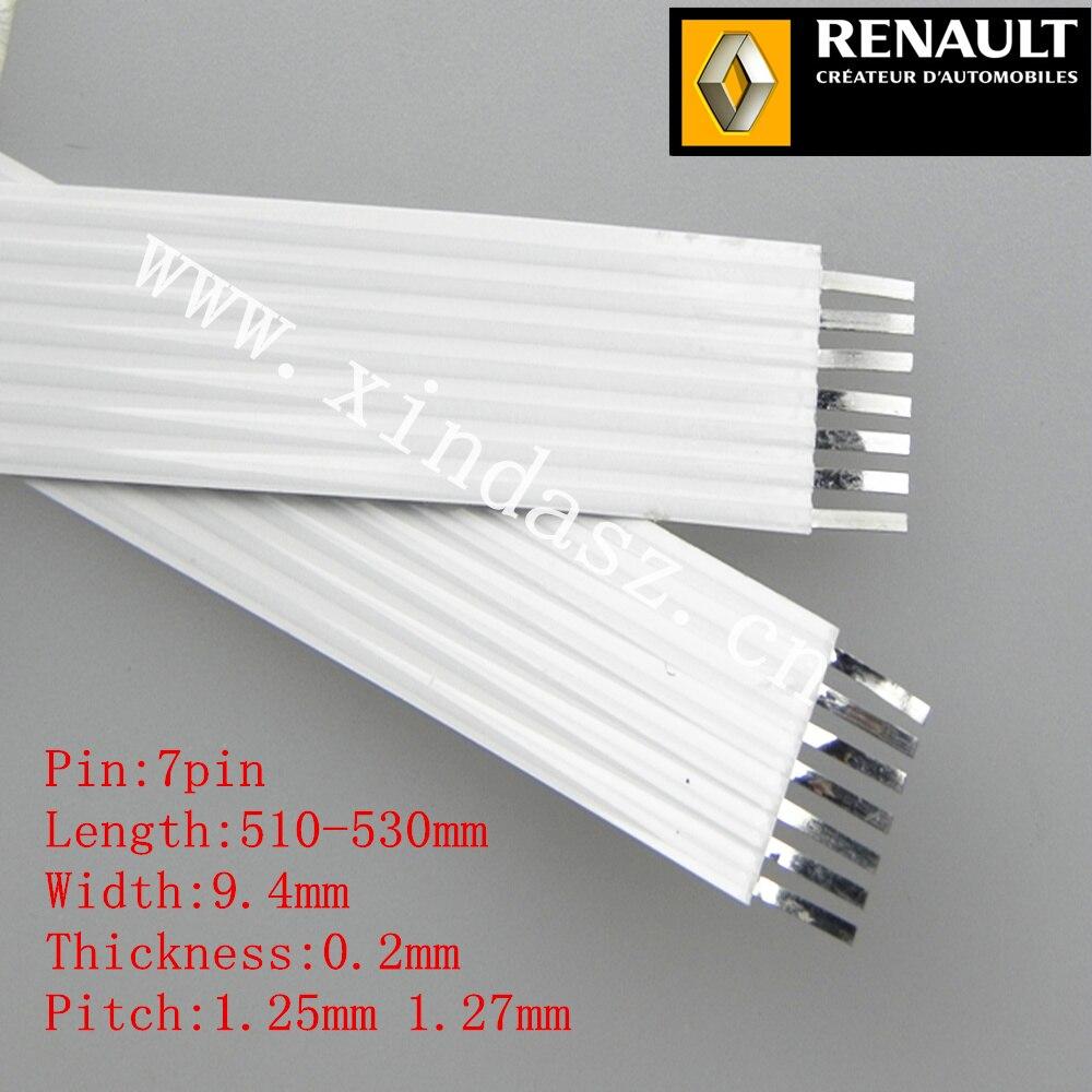 7pin 1,27mm pitch 51-53 cm 520mm lange 9,4mm breite 0,2mm dicke airbag ffc kabel für renault megane II mit kostenloser versand