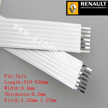 7pin 1.27mm pitch 51-53cm 520mm long 9.4mm width 0.2mm thickness airbag ffc cable for renault megane II with free shipping