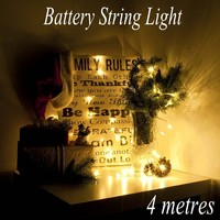 4M 40 Led Battery Led String Light Battery Operated Fairy Party Wedding Christmas Flashing LED Strip