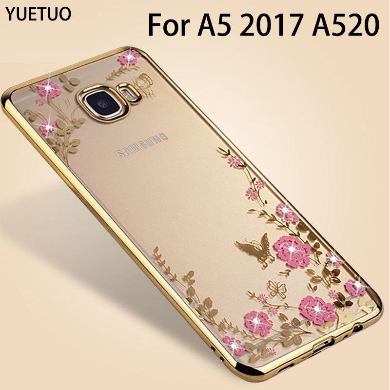 Original oro rosa cubierta de coque de tpu case para samsung galaxy a5 2017 a520