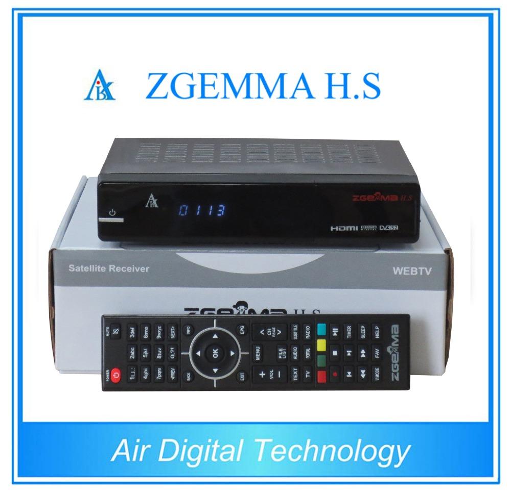 Prix pour 10 pcs/lot Air Numérique D'origine Enigma2 Linux os HD DVB S2 récepteur Satellite ZGEMMA H. S Dual Core smart tv box