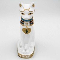 2015 New Mascot Design Egypt Style Sculpture Animals Cat Statues For Home Garden Decoration Wholesale Resin