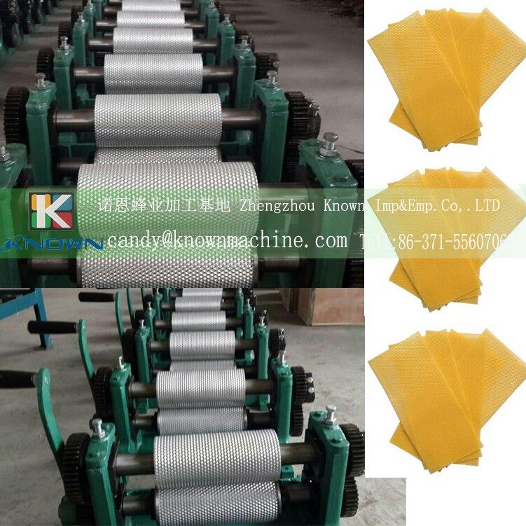 Cells size 4.8mm Manual Bee Wax Foundation Sheet wax mill machine Mills Machine size 86*195mm 86 250mm competitive price bees wax foundation machine