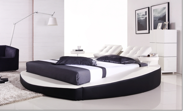 2016 Luxury Bedroom Set Round Shape Bed 0414-in Beds From