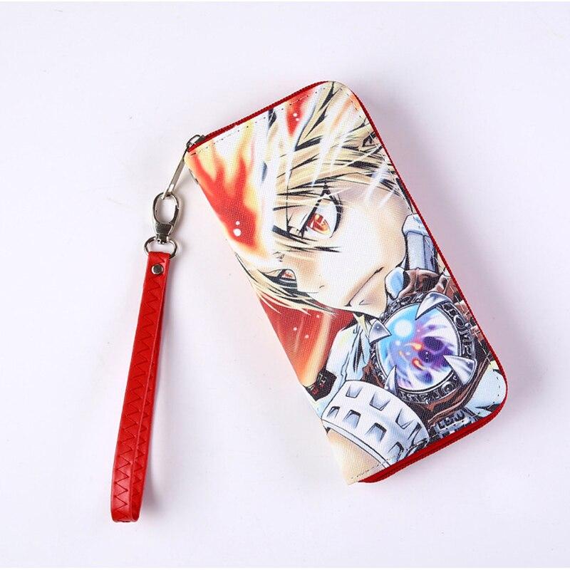 Anime Hitman Reborn Vongola Famiglia Long Style Wallet Sawada Tsunayoshi Colorful Cool PU Purse with Zipper