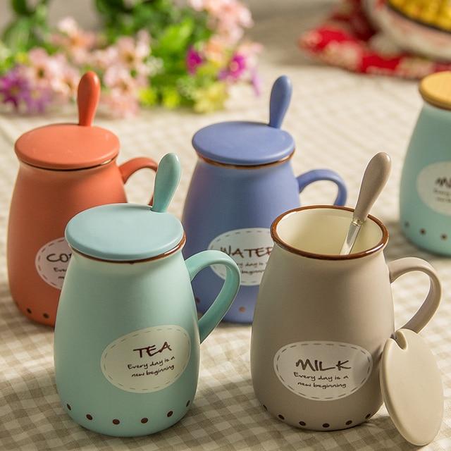 Favorite Personalised Mug Milk cup ceramic mug with spoon lid bone china  PG84