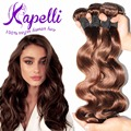 7A волосы королева бразильские волна реми человеческого волоса переплетения 4 расслоения бразильского виргинские наращивание волос светло-коричневый роза волосы