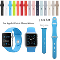 38MM/42MM M/L Silicone Colorful Band With Connector Adapter For AppleWatch Strap Silicone Band For iWatch Sports Buckle Bracelet