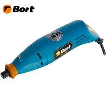 Гравер электрический Bort BCT-170N (мощность 170 Вт, 8000-32000 об/мин, дисплей, гибкий вал, кейс с насадками)