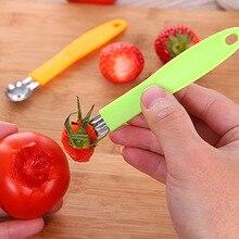 1pcs Novelty Tomato Strawberry Stalks Stem Leaves Huller Corer Remover for Fruit Platter Creative
