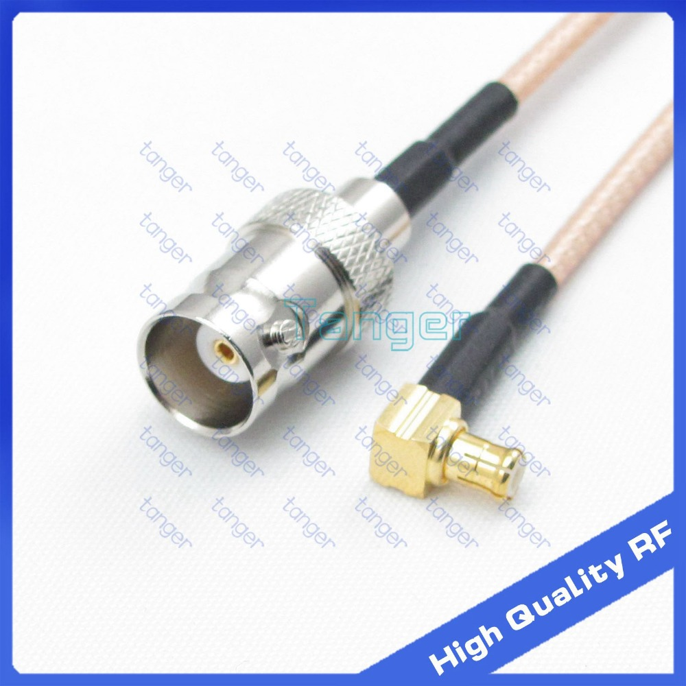 Tanger High Quality 6inch MCX male right angle to BNC female jack with RG-316 RF Coaxial Pigtail Jumper cable 6 15cm bnc female right angle panel mount plastic type white pc board pcb mount right angle bnc female with nut bulkhead connector 3pcs