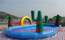2016 Cute Commercial 6*6m Inflatable Swimming Pool for Adult and Kids with free air blower