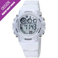 OHSEN 2016 New Kids Digital Wrist Watch Sport Boy Girl Electronic Water Resistant Watch 5bar Student
