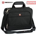 Marca suíça homens laptop maleta 14 polegada laptop caso saco do mensageiro multifuncional bolsa de ombro portfolio para macbook hp lenovo