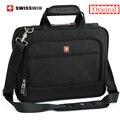 Marca suiza hombres de maletín portátil de 14 pulgadas laptop case bolsa de mensajero multifuncional bolsa de hombro cartera para macbook hp lenovo