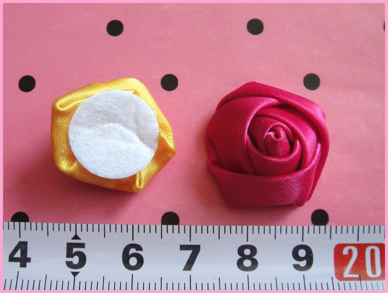 80 шт./партия, 2-2,5 см, смешанные цвета, сатин, милый розовый цветок, Аппликации для одежды, аксессуары и украшения для волос для девочек