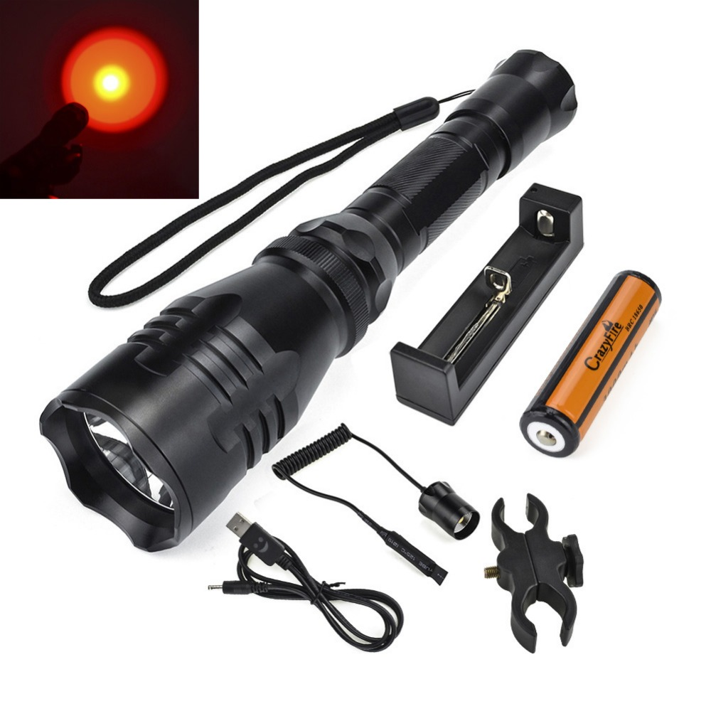 Led Tactical Flashlight 500M Distance XML R5 Cree Led Hunting Camping Torch Waterproof+18650 Battery+Charger+Gun Mount рюкзак thule stir 20l fjord 3203553