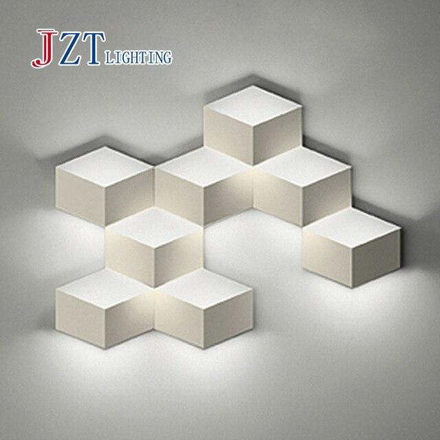 Zyy flod magic led wall light aluminum stereo rhombus ice cube 3d zyy flod magic led wall light aluminum stereo rhombus ice cube 3d wall lamp geometry square mozeypictures Images