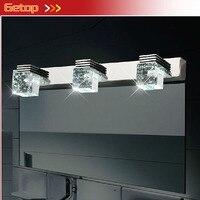 ZXขายร้อนที่ทันสมัยK9คริสตัลLEDกระจกผนังโคมไฟละอองน้ำทนLustresไฟสำหรับห้องแต่งตัวห้องน้ำLEDรว