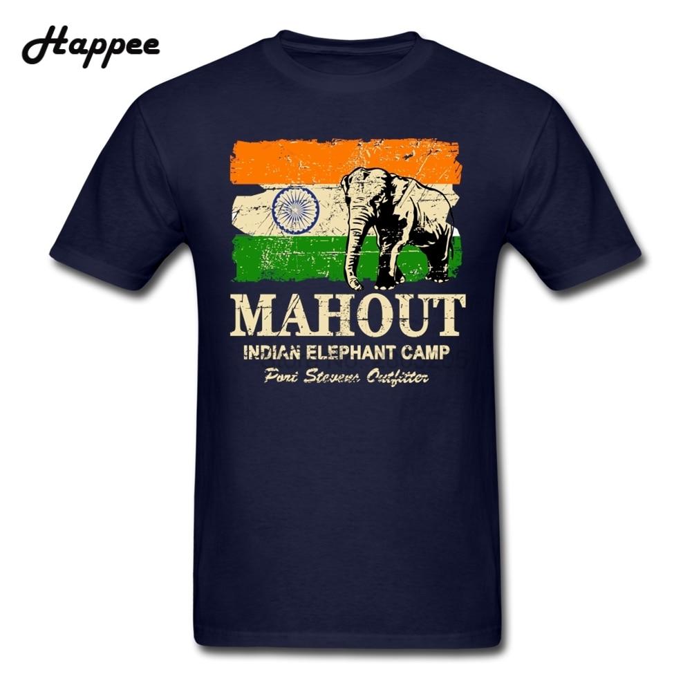 Black flag t shirt vintage - Xs 3xl Elephant India Flag Vintage Look T Shirt Men Short Sleeve Crew Neck Tee