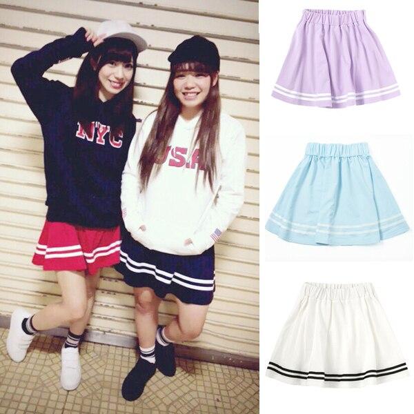 新しい到着日本の学校の女の子固体セーラー制服jkスカート