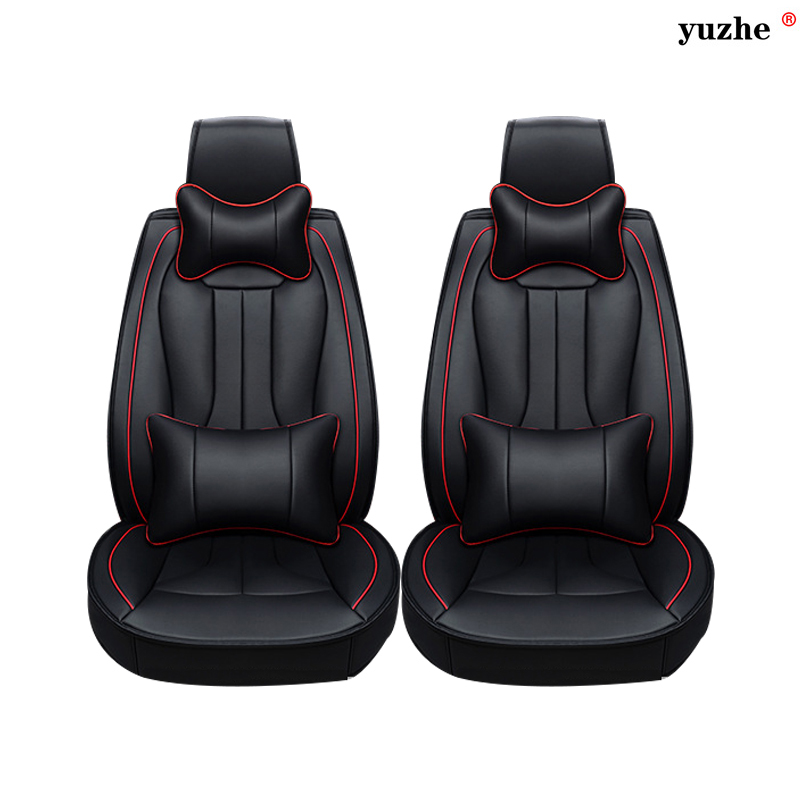 2 pcs Leather car seat covers For Mini One Cooper R50 R52 R53 R55 R56 R60 R61 PACEMAN COUNTRYMAN car accessories car-styling