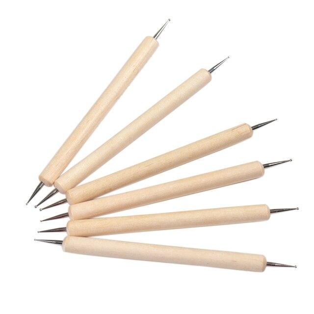 Aliexpress.com : Buy Fengshangmei Wooden Nail Dot Pen Tools 2 Ways ...