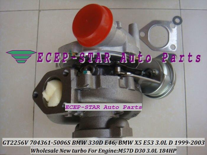 GT2256V 704361-5006S TURBINE Turbo Fit For bmw 330D E46 X5 3.0D E53,EngineM57D D30 3.0L 184HP 1999-2003 Turbocharger (8)