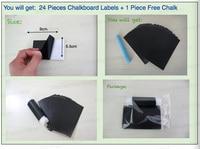 кухня поделки кладовая канистра наклейка этикетки доске чистка прямоугольники комплект = 24 шт., 5.5 * 9 см / часть, с 1 мел