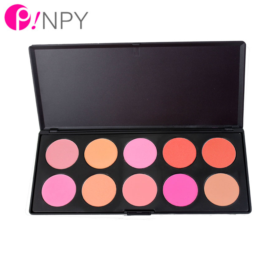 10 Color Makeup Blush Face Blusher Powder Palette Cosmetics Free Shipping Professional Makeup Product