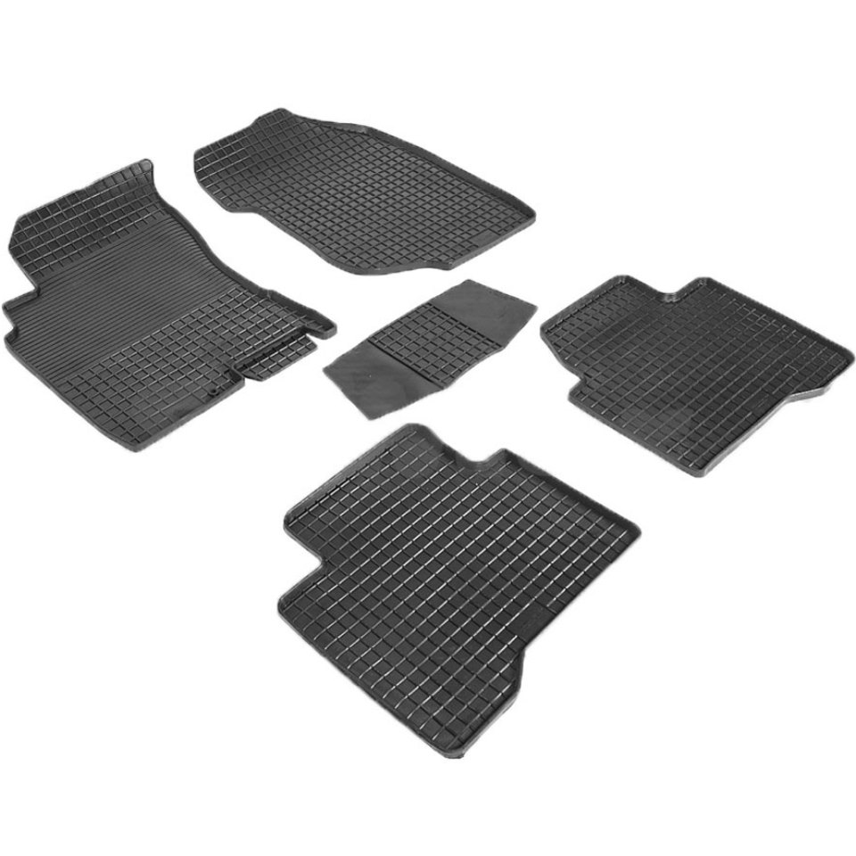 Rubber grid floor mats for Nissan X-Trail T30 2003 2004 2005 2006 2007 Seintex 00297