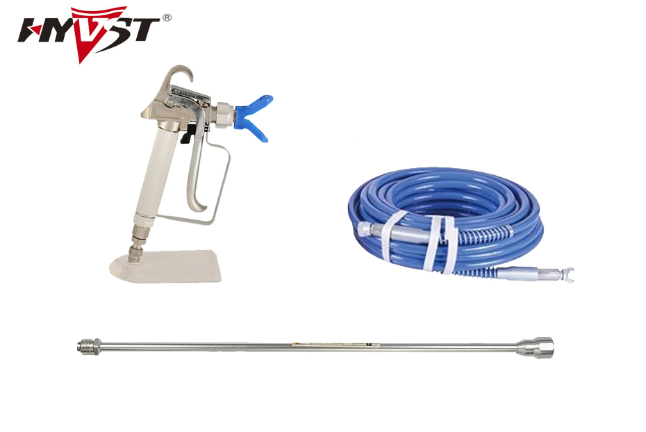 Perfect combination airless paint sprayer spare parts 15m pressure hose 15cm extend pole paint spray gun with 517 tip
