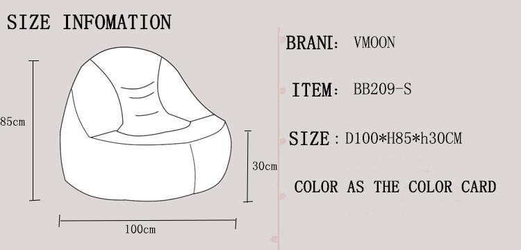Size Information Jpg Compeors Chairs Bean Bag