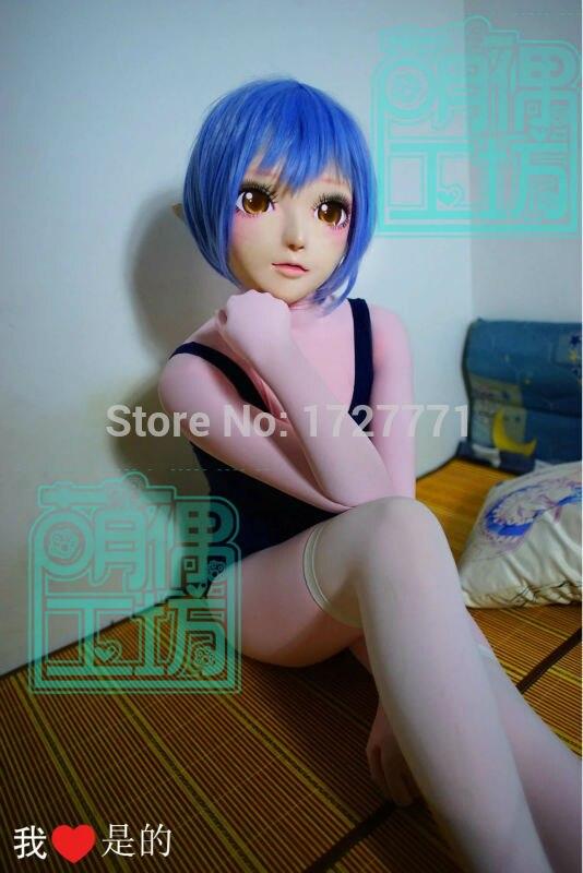 (B-04) Super Quality Handmade Female Resin Half Face Mask Cosplay Japanese Anime Kigurumi Mask Crossdresser SA Doll